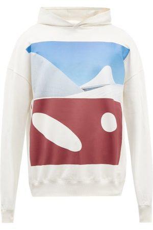 A Men Sweatshirts - Cold-Wll* - Hemisphere-print Orgnic-cotton Hooded Swetshirt - Mens