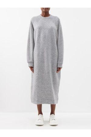 Raey Oversized Cashmere-blend Sweatshirt Dress - Womens - Light Grey