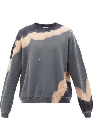 NOMA t.d. Men Sports Hoodies - Tie-dye Cotton-jersey Sweatshirt - Mens - Grey