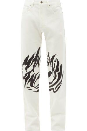 Maximilian Logo-print Slim-leg Jeans - Mens