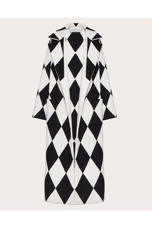 VALENTINO Women Coats - Long Coat In Intarsia Compact Drap Women / 90% Virgin Wool 10% Cashmere 36