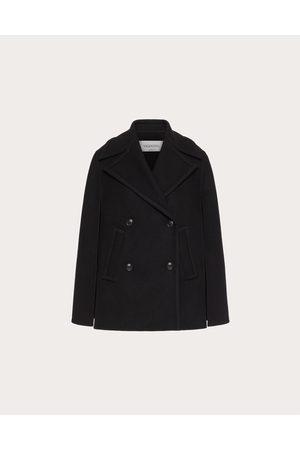 VALENTINO Women Coats - Diagonal Double Wool Cape Pea Coat Women 77% Wool 38