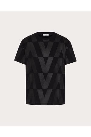 VALENTINO Cotton T-shirt With Macro Optical Valentino Print Man / 100% Cotton L