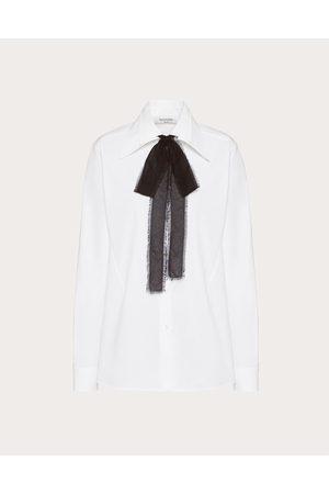 VALENTINO Cotton Poplin Shirt Women Optic 100% Cotton 36