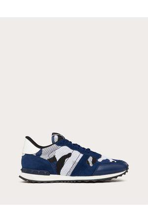 VALENTINO GARAVANI Men Sneakers - Mesh Fabric Camouflage Rockrunner Sneaker Man / 100% Pelle Di Vitello - Bos Taurus 39.5