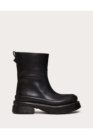 VALENTINO GARAVANI Men Ankle Boots - Roman Stud Calfskin Ankle Boot Man 100% Pelle Di Vitello - Bos Taurus 39
