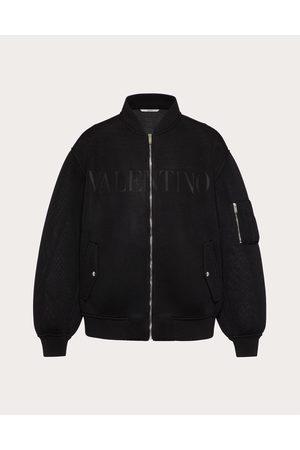 VALENTINO Men Bomber Jackets - Mesh Bomber With Valentino Print Man 100% Polyester 46