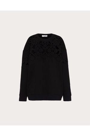 VALENTINO Women Sweatshirts - Embroidered Jersey Sweatshirt Women 100% Cotton M