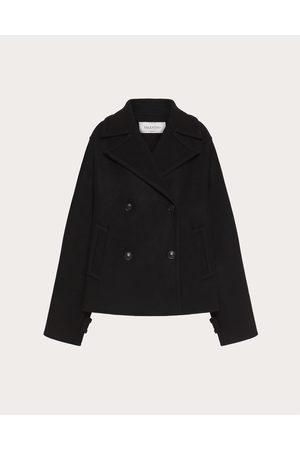VALENTINO Women Coats - Diagonal Double Wool Pea Coat Women 77% Wool 36