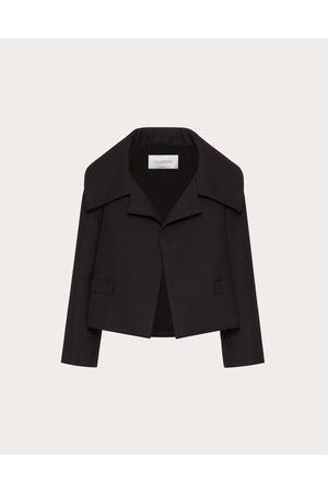 VALENTINO Women Blazers - Double Compact Drill Petite Jacket Women 99% Virgin Wool 1% Silk 36