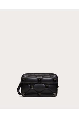 VALENTINO GARAVANI Men Bags - Roman Stud Nappa Crossbody Bag Man 100% Lambskin OneSize