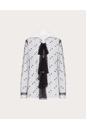 VALENTINO Women Shirts - Cotton Poplin And Point D'esprit Shirt Women / 100% Cotton 36