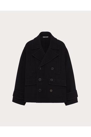 VALENTINO Men Coats - Pea Coat In Doubled Wool Man 77% Virgin Wool 46