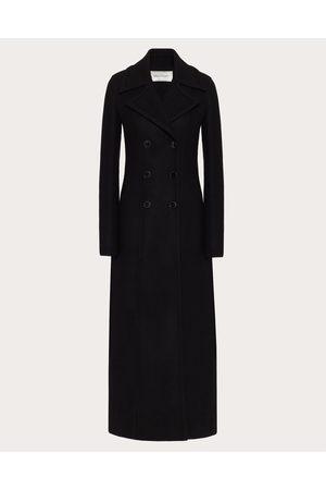 VALENTINO Diagonal Double Wool Long Coat Women 77% Wool 36