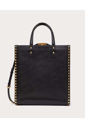 VALENTINO GARAVANI Men Bags - Rockstud Alcove Grainy Calfskin Tote Bag Man 100% Pelle Di Vitello - Bos Taurus OneSize