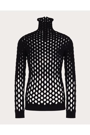 VALENTINO Men Turtlenecks - Turtleneck Sweater In Viscose Mesh Man 75% Viscose 25% Polyester L