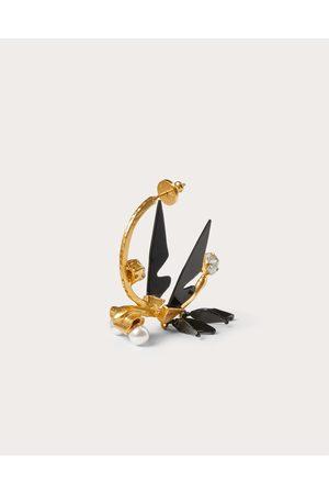 VALENTINO GARAVANI Women Earrings - Dreamy Forest Single Earring In Metal, Enamel, Plexiglass And Swarovski® Pearls Women / 100% Brass OneSize