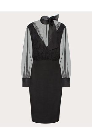 VALENTINO Stretch Crepe Couture Dress Women 100% Silk 36