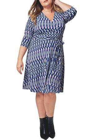 Leota Striped Faux-Wrap Dress
