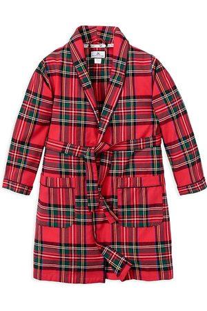 Petite Plume Unisex Imperial Tartan Flannel Robe - Little Kid, Big Kid