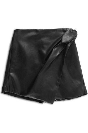 HABITUAL Girls' Faux Leather Mock Wrap Skort - Big Kid