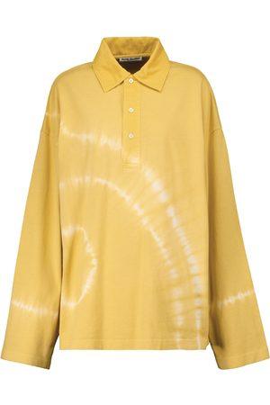 Acne Studios Tie-dye cotton polo shirt