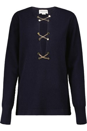 Victoria Beckham Chain-embellished wool sweater