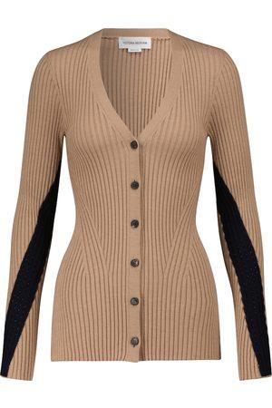 Victoria Beckham Ribbed-knit cardigan