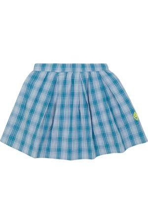The Animals Observatory Kids Skirts - Bird checked cotton skirt