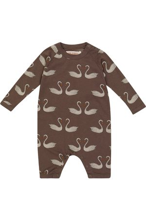The Animals Observatory Rompers - Baby Owls printed cotton-jersey onesie