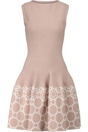 Alaïa Women Knitted Dresses - Jacquard stretch-knit minidress