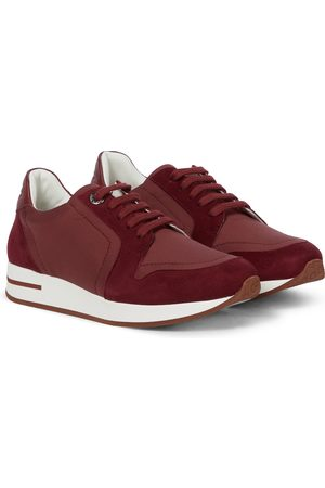 Loro Piana Sneakers - My Wind suede-trimmed sneakers
