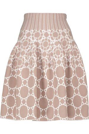 Alaïa Women Mini Skirts - Jacquard stretch-knit miniskirt
