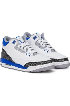 Nike Kids Sneakers - Air Jordan 3 Retro leather sneakers