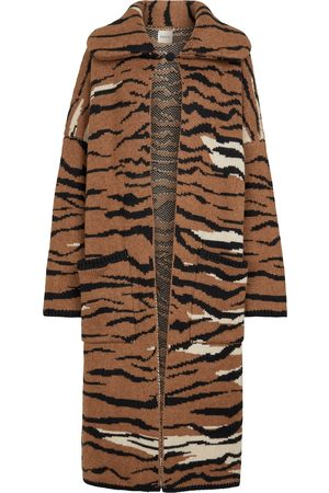 Khaite Women Cardigans - Fiona longline cashmere jacquard cardigan