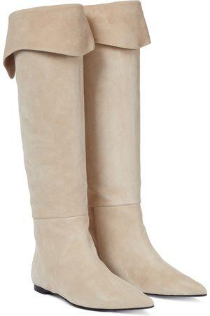 KHAITE Women Thigh High Boots - Diego suede knee-high boots