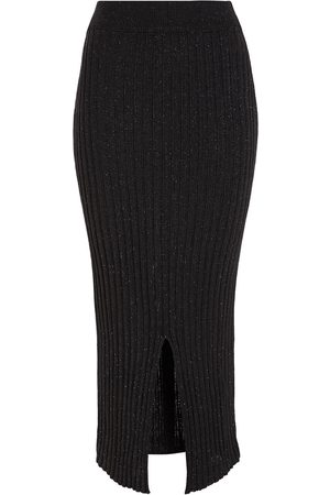 See by Chloé See By Chloé Woman Split-front Ribbed-knit Midi Pencil Skirt Size L