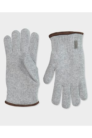 Paul & Shark Men Gloves - Wool glove with profiles suede