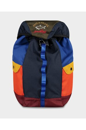 Paul & Shark Color block backpack with emroidered Logo