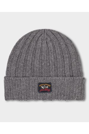 Paul & Shark Men Beanies - Eco-wool ribbed beanie with iconic badge