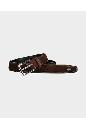 Paul & Shark Men Belts - Suede belt with clashing stitches