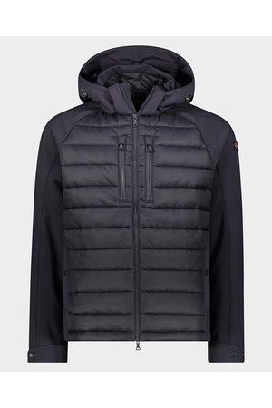Paul & Shark Men Hoodies - Hybrid hoodie jacket in Soft Shell & Nylon