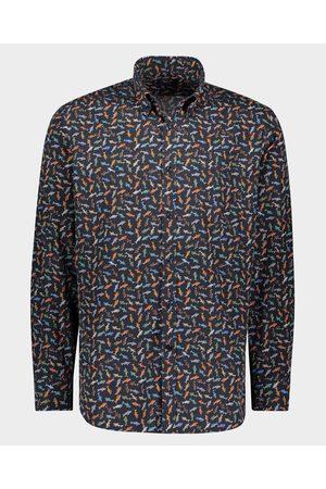 Paul & Shark Men Shirts - Organic printed popeline cotton Shirt