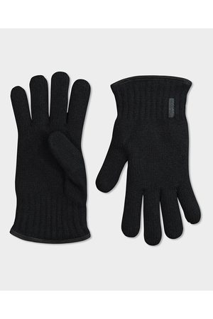 Paul & Shark Wool glove with profiles suede