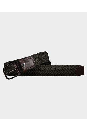 Paul & Shark Elastic belt with leather trim