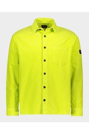 Paul & Shark Cotton velvet overshirt dyede garment