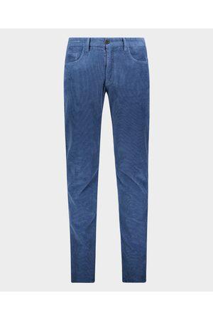 Paul & Shark Men Stretch Pants - 5 pockets trousers in cotton stretch velvet