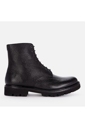 Grenson Men Lace-up Boots - Men's Hadley Grained Leather Lace Up Boots