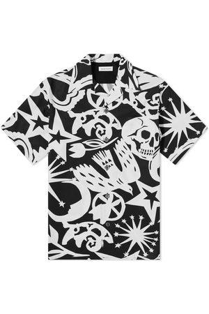 Alexander McQueen Skull All Over Print Vacation Shirt