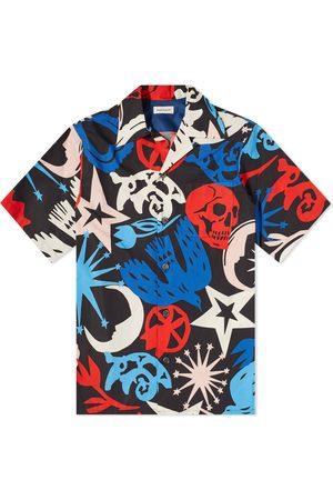 Alexander McQueen Men Shirts - Skull All Over Print Vacation Shirt